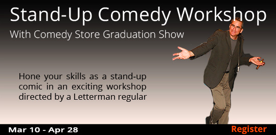 Stand-Up Comedy Workshop with Graduation Show (Remote Live) , 3/10/2021-04/28/2021