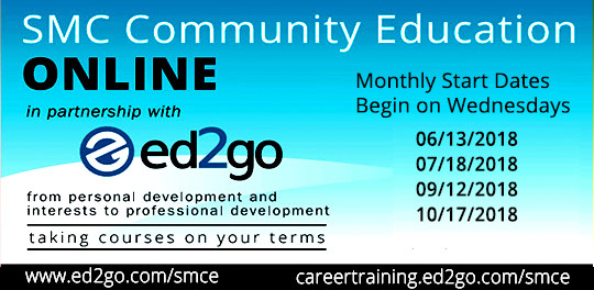Community Ed Online Classes in partnership with ed2go - next start date June 13