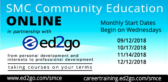 Community Ed Online Classes in partnership with ed2go - next start date Aug 15