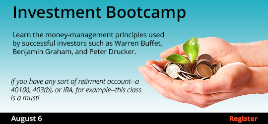 Investment Bootcamp, 8/6/2019
