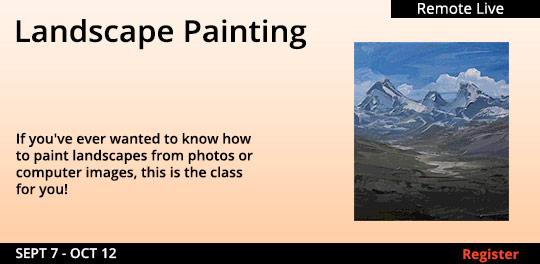 Landscape Painting (Remote Live) 09/07/2021 - 10/12/2021