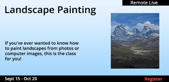 Landscape Painting (Remote Live), 9/15/2020 - 10/20/2020