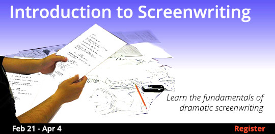 Introduction to Screenwriting, 2/21/2019 - 4/4/2019