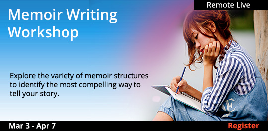 Memoir Writing Workshop, 03/03/2021 - 04/07/2021