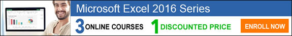 Microsoft Excel 2016 Series - 3 courses for 1 price