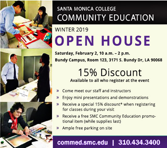 Annual Open House - February 2, 10am-2pm, BundyCampus,  Room 123