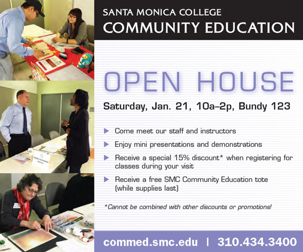 Annual Open House - January 21, 10am-2pm, Bundy  Room 123