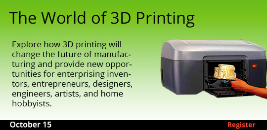The World of 3D Printing  10/15