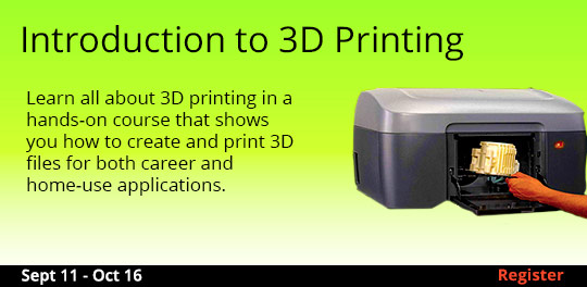 Introduction to 3D Printing 9/11/2017 - 10/16/2017