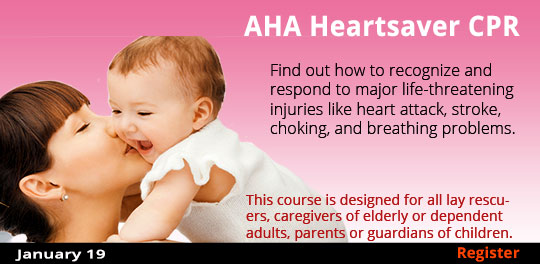 AHA Heartsaver CPR with AED (Adult, Child, & Infant) 1/19