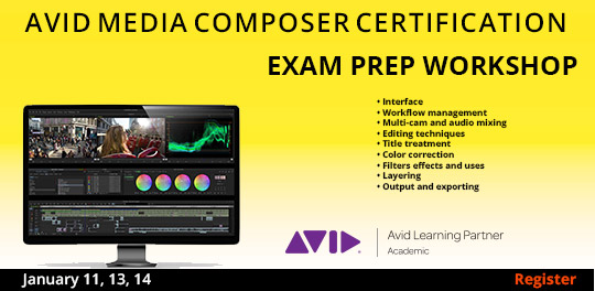 Avid Media Composer Exam Prep Workshop   1/11