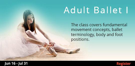 Adult Ballet I 6/19 - 7/31/2017