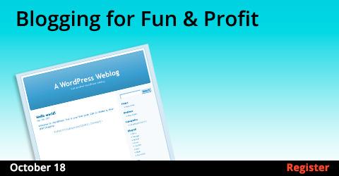 Blogging for Fun & Profit, 10/18/2017