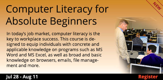 Computer Literacy for Absolute Beginners 7/28/2017 - 8/11/2017