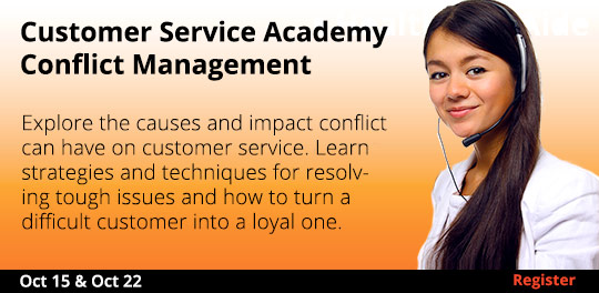 Customer Service Academy - Conflict Management  10/15 & 10/22