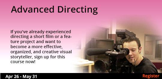 Advanced Directing 4/26 - 5/31/2017