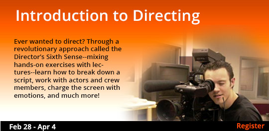 Introduction to Directing 2/28 - 4/4