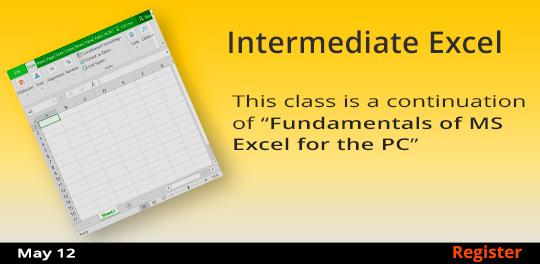Intermediate Excel  5/12