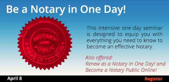 Become a Notary in One Day 4/8
