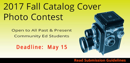 2017 Fall Catalog Cover Photo Contest - deadline March 15