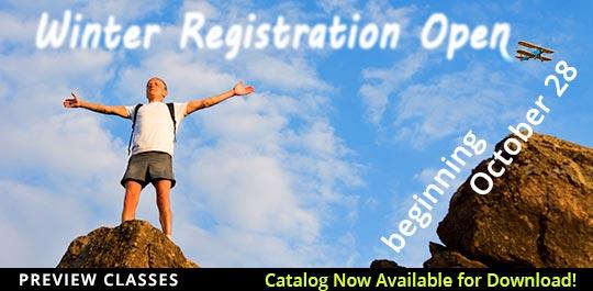 Winter 2017 Registration Preview Classes Now