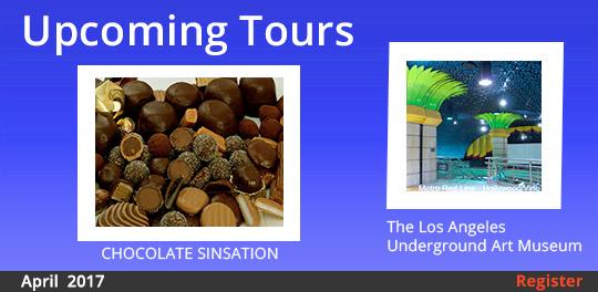 March Tours--Chocolate Sinsation tour and LA Underground Art Museum tour