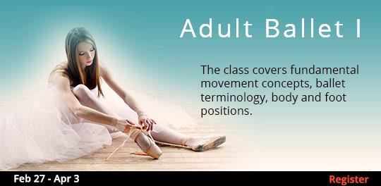 Adult Ballet I 2/27 - 4/3