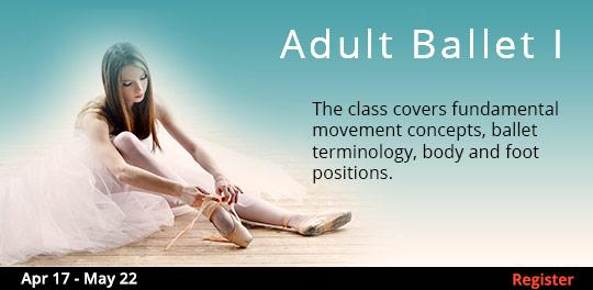 Adult Ballet I  4/17 - 5/22
