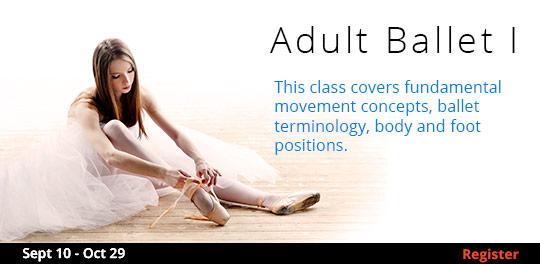 Adult Ballet I   9/9-10/29