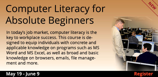 Computer Literacy for Absolute Beginners 5/19 - 6/9