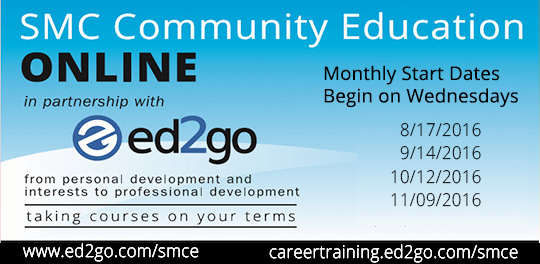 online classes with ed2go and Community Ed.