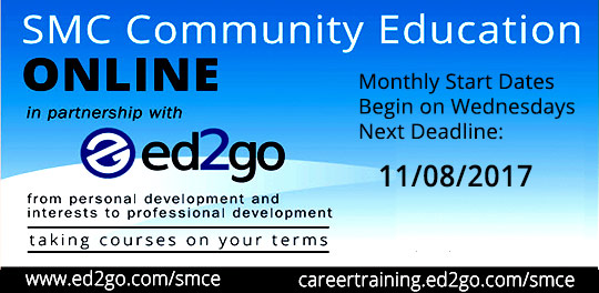 online classes with ed2go and Community Ed. - Next deadline: November 8