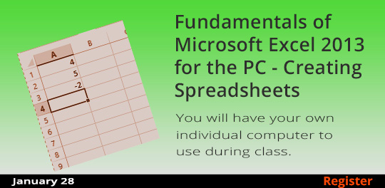 Fundamentals of Microsoft Excel 2013 for the PC - Creating Spreadsheets  1/28