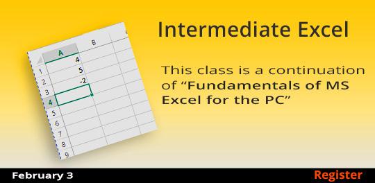 Intermediate Excel  2/3