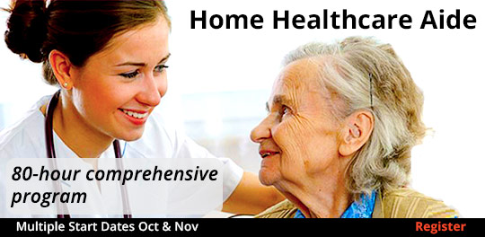 Home Healthcare Aide Oct & Nov start dates