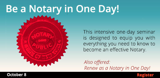 Become a Notary in One Day  10/8