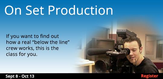 On Set Production   9/8-10/13
