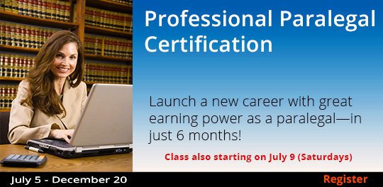 Professional Paralegal Certification 7/5-12/20