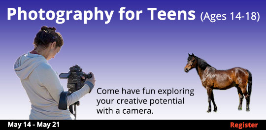 Photography for Teens (Ages 14-18) 5/14-5/21