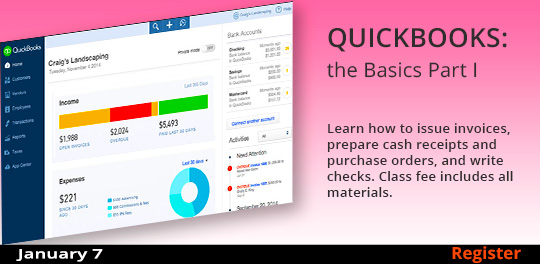 QuickBooks: The Basics, Part I  1/7