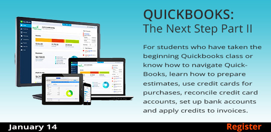 QuickBooks: The Basics, Part 2  1/14