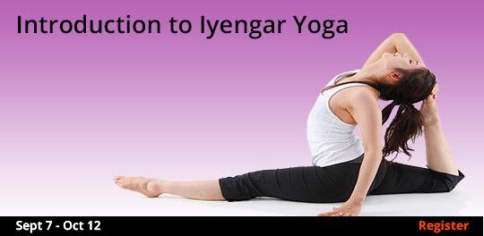 Introduction to Iyengar Yoga 9/7-10/12