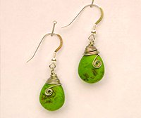 Earrings designed and crafted by Susan Ryza