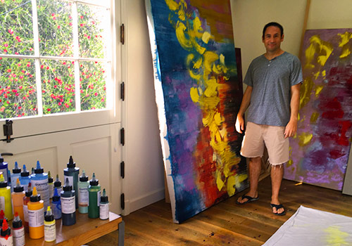 Ricci in his West L.A. studio