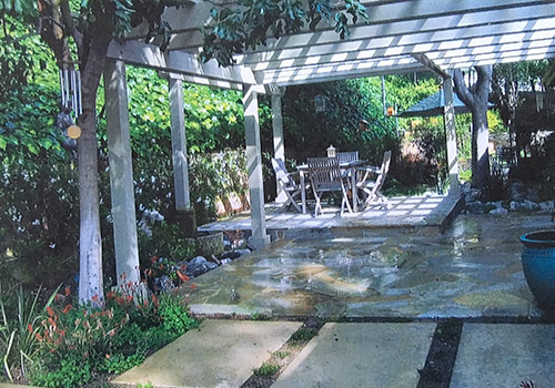 Charlotte Chen landscape - back yard of a Pasadena home