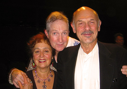 Cecilia Dighero, Oliver Muirhead and Ron House at opening night of House's play,