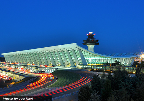 Dulles International Airport near Washington, D.C. was designed by modernist Eero Saarinen