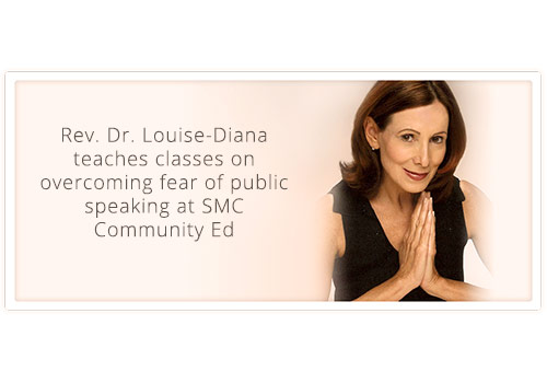 Rev. Dr. Louise-Diana teaches several classes at SMC Community Ed