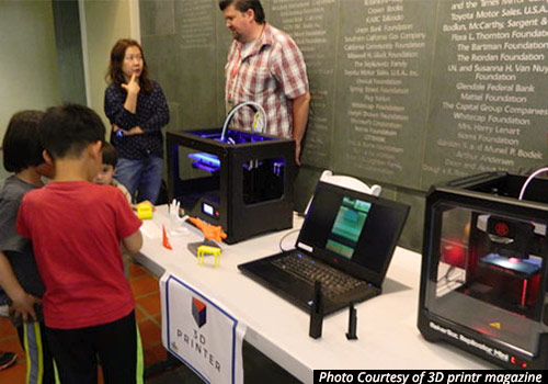 L.A. Public Library celebrates Science Day 2016 with 3D printer display