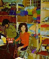Susan Ryza in 1982 in Brooklyn warehouse